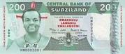 200 Emalangeni commemorative banknote – avers