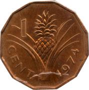 1 cent - Sobhuza II – revers