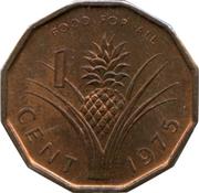 1 cent - Sobhuza II (FAO) – revers