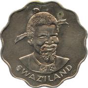 20 cents - Sobhuza II (FAO) – avers
