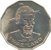 50 cents - Sobhuza II – avers