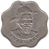 10 cents - Sobhuza II – avers