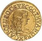 1 dukat Charles XI (3e portrait; avec un cercle intérieur) – avers