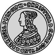 ½ dalderi Christina – avers