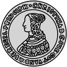 2 dalderi Christine (2e portrait) – avers