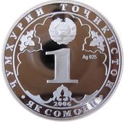 1 somoni Aryens (argent) – avers