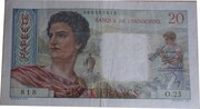 20 francs Tahiti – avers