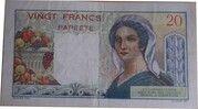 20 francs Tahiti – revers