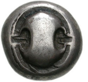 Stater (Boiotia) – avers