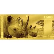 1500 Shillings (Rhinocéros) – revers