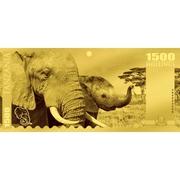 1500 Shillings (Éléphant d'Afrique) – revers