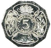 5 shilingi – revers