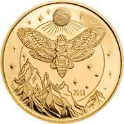 1500 Shillings (Golden Death's Head Hawkmoth) – revers