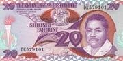 20 shillingi – avers
