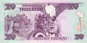20 shillingi – revers