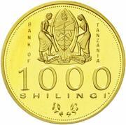1,000 Shilingi (Visit of Richard von Weiszacker) -  avers