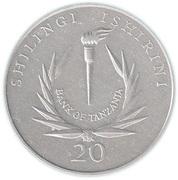 20 shilingi (Banque Centrale) – revers