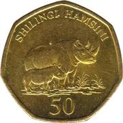 50 shilingi – revers