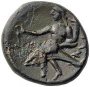 Calabre - Tarente - Unité de bronze Æ15 – revers