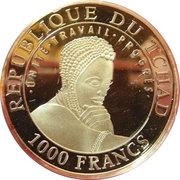 1000 Francs (Parc archéologique de San Agustín) – avers