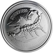 500 francs (Scorpion rôdeur mortel) – revers