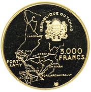 3000 francs (Gouverneur Eboué) – avers