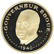 3000 francs (Gouverneur Eboué) – revers