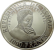 1000 Francs (Chichén Itzá) – avers