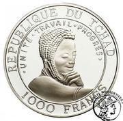 1000 Francs (Okapi) – avers