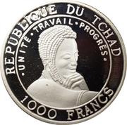 1000 Francs (Orang-outan) – avers