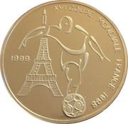 1000 francs (Coupe du monde de football France 1998) – revers