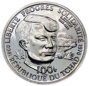 100 Francs (Robert Francis Kennedy) – avers