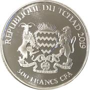 500 francs CFA (Cerf élaphe d'Irlande) – avers