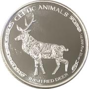500 francs CFA (Cerf élaphe d'Irlande) – revers