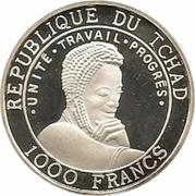1000 Francs (Navire de guerre arabe) – avers