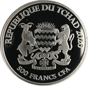 500 francs CFA (Cheval) – avers