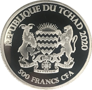 500 francs CFA (Bœuf) – avers