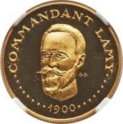 1000 francs (Commandant Lamy) – revers