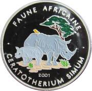 1000 Francs  (Ceratotherium (rhinoceros) colourized) – avers
