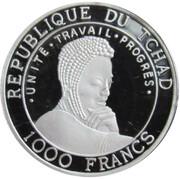 1000 Francs  (Ceratotherium (rhinoceros) colourized) – revers