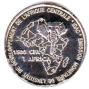 1500 CFA / 1 africa (Tchad) – revers