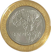 4500 francs CFA – revers