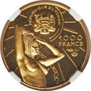 1000 francs (Commandant Lamy) – avers