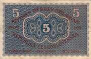 5 korun – revers