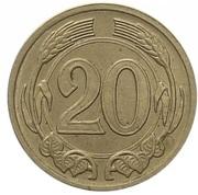20 Haléřů (Essai) – revers