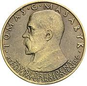 5 Sokolů (T. G. Masaryk) – avers
