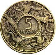 5 Sokolů (T. G. Masaryk) – revers
