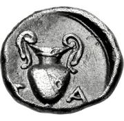Diobol (Temnos) – revers