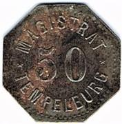 50 pfennig - Tempelburg – avers