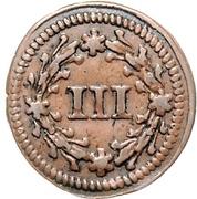 3 Pfennig - Karl I. (Kipper) – revers